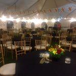 wedding tables in an outdoor venue
