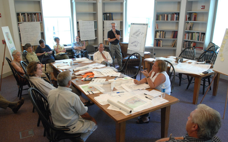 A corporate retreat being held in our Ladson Library