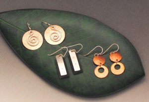 Earrings designed by Loretta Kaneshige