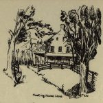 Potential Postcard Image Meeting House Drawing by Weske