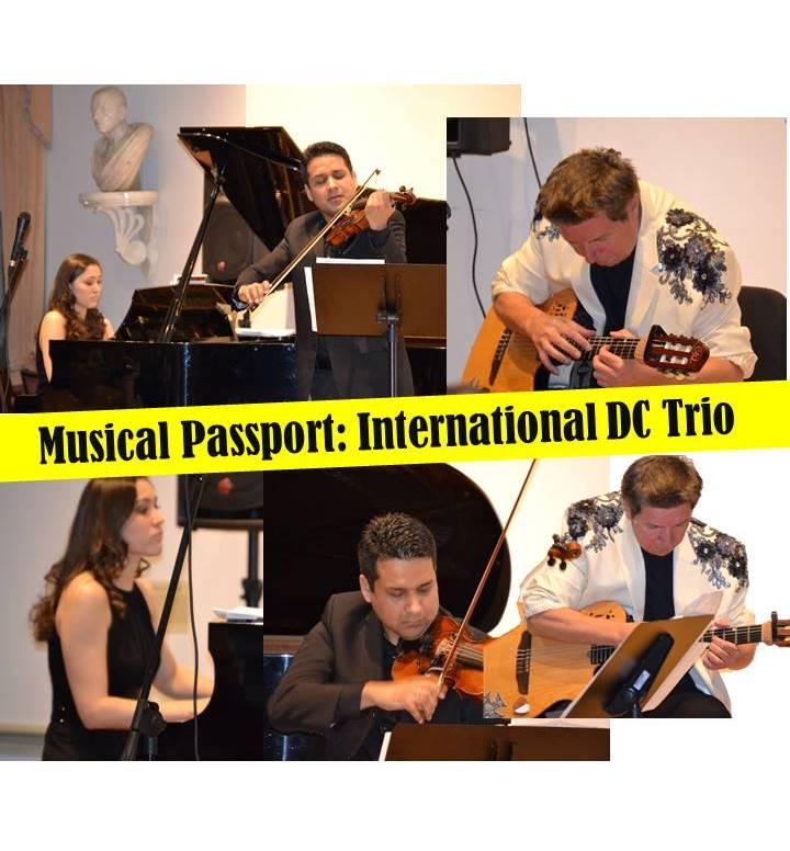 musical passport: international DC trio flyer