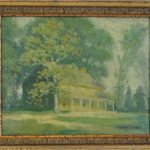 Painting of Sandy SPring Friends School by Milton Bancroft