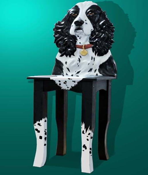 Pam Foss Spaniel Dog Chair