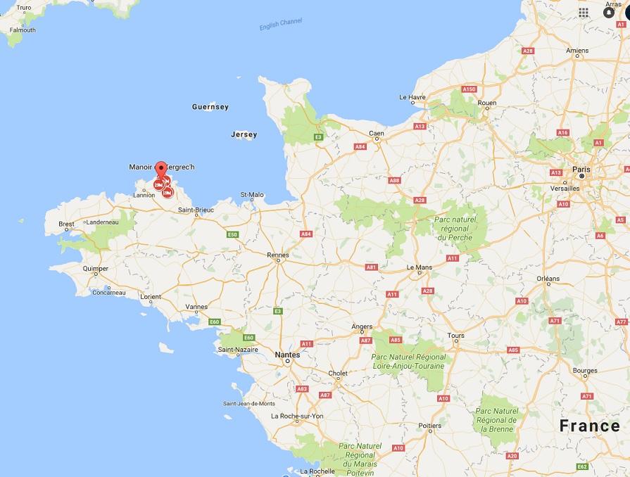 Treguier Map Region