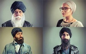 collage image of four Sikhs in their turbans