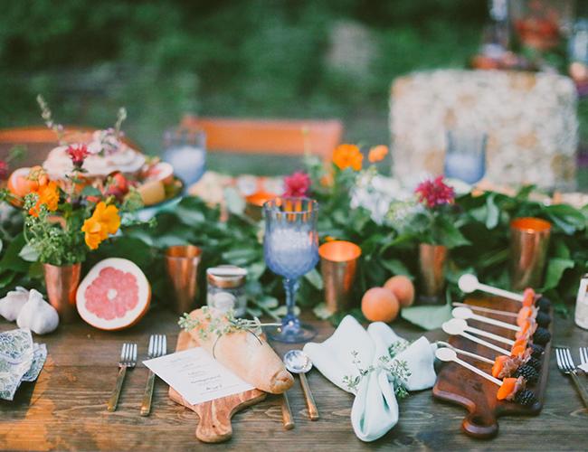 Table set for a garden party