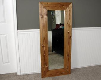 Full length wooden mirror