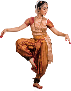 Woman from Kalanidhi Dance performing classical Indian dance