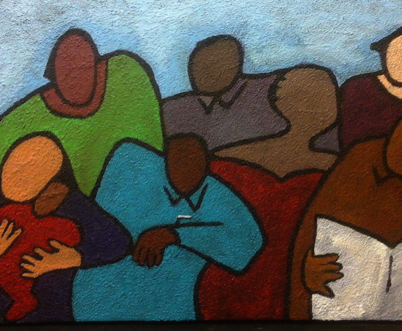 Mixed Folks by Normon Greene - painting