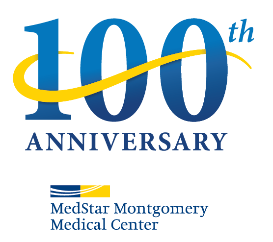 medstar montgomery medical center 100th anniversary logo