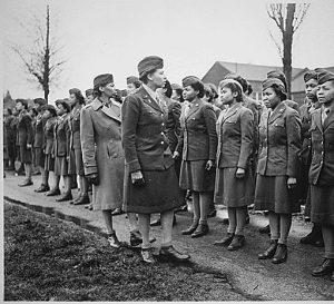 England Inspection Maj Charity E Adams, Cmdr Cpt Abbie N
