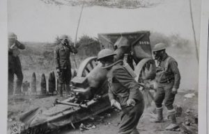 Military members using chemical weapons during wwi