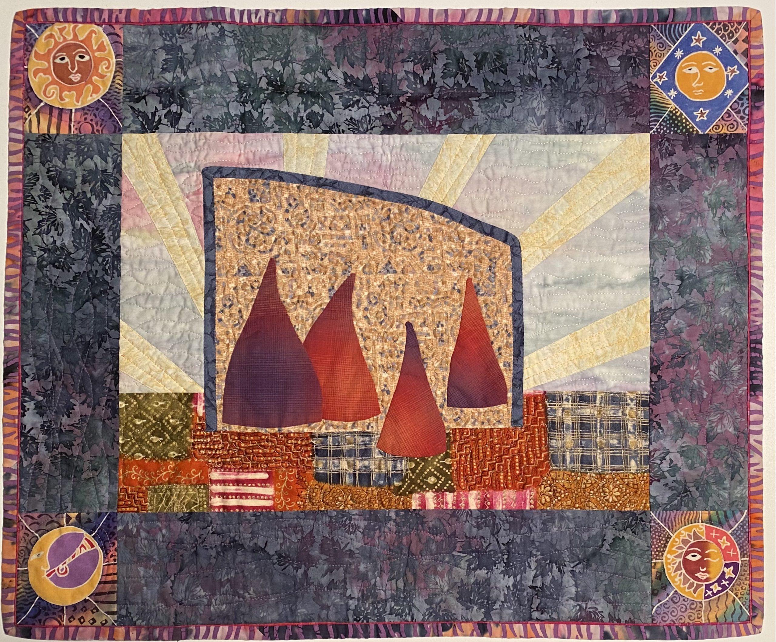 Quilt made by artist Lauren Kingsland